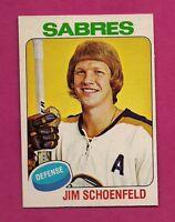 1975-76 OPC # 138 SABRES JIM SCHOENFELD MINT CARD (INV#1697)