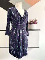 BODEN DRESS Size 14P BLUE GREEN| Smart CASUAL Work Office