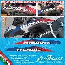 2 Adesivi Becco Parafango Moto BMW R 1200 gs adventure LC red & blu line