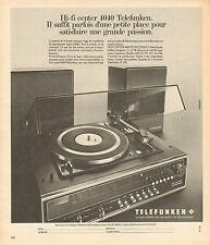 Publicité 1975  TELEFUNKEN hi fi center 4040 chaine tourne disque son musique