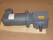 Baldor DC Motor CDP3310 & Boston Gear Speed Reducer F71860SB5J, 1/4HP 90VDC 60:1