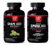 Antioxidant diet - GRAPE SEED EXTARCT – SPIRULINA COMBO - grape seed resveratrol