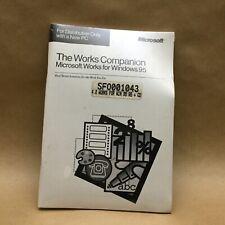 Microsoft Works 4.0 Windows 95 CD w/ Companion & Certificate SEALED