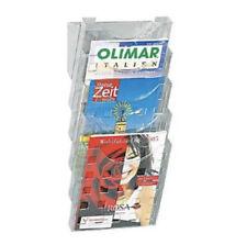 helit Wandprospekthalter DIN A4 transparent für Wartebereich 5 Fächer