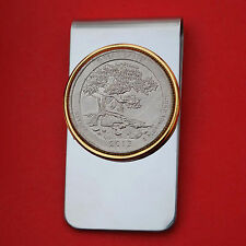 US 2013 Nevada Great Basin National Park UNC Quarter Coin Two Toned Money Clip