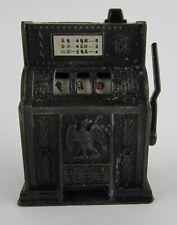Vintage Miniature Die-Cast Metal Golden Eagle Slot Machine Pencil Sharpener