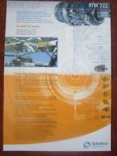 DOCUMENT TURBOMECA SAFRAN ROLLS-ROYCE RTM 322 HELICOPTER TURBINE NH 90 EH 101