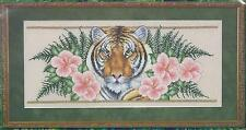 PARADISE OF THE TIGER~Counted Cross Stitch Kit~ Animals Tigers Kit RARE