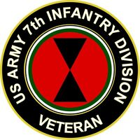 """Army 7th Infantry Division Veteran 5.5"""" Sticker 'Officially Licensed'"""