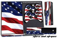 Designer Skin for XBOX ONE 1 Gaming Console +2 Controller Sticker Decals US Flag