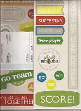 CREATIVE MEMORIES SPORTY TITLES Jumbo Stickers x 3 Sayings Title Words GO TEAM