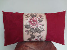Decorative Pillow Cover Beautiful Pink Roses Burgundy Beige Green Floral Pattern