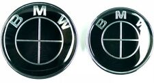 82+74mm BMW Schwarz Emblem Vorne Hinten 2pin Motorhaube e46 e90 e60 e39 1 3 5 7