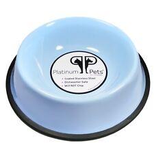 Platinum Pets 6.25-Cup Embossed Non-Tip Dog Bowl, Sky Blue (K17)