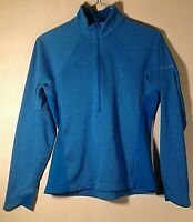 Columbia 1/2 Zip Women's Long Sleeve Striped Athletic Jacket Size S Small