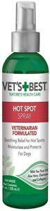 Vet's Best Dog Hot Spot Itch Relief Spray| Relieves Dog Dry Skin, Rash, Scratchi