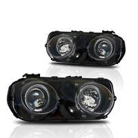 Winjet 1994-1997 Acura Integra Projector Halo Headlights - Black/Clear