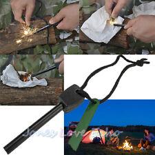 Survival Magnesium Flint Stone Fire Starter Emergency Lighter Kit For Camping US