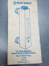 Calqflo Blue White Flowmeter Cf-500 Series Cf-50375Ln Pvc New In Box