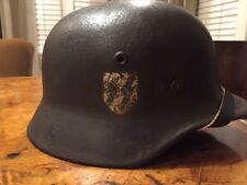 Original WWII German M-40 SS Helmet W/Original Liner
