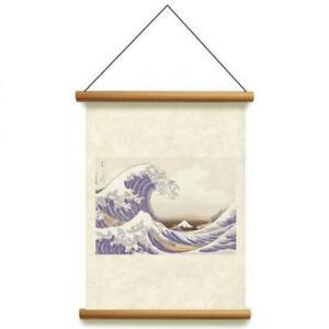 Kakejiku hanging scroll japanese wave ukiyoe Hokusai katsushika art tapestry