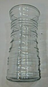 """1950's Clear Heavy Glass Vintage Ring Ribbed Profile 8"""" Tall Flower Vase FREE SH"""