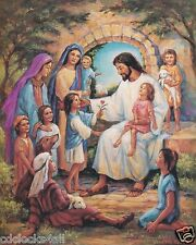 JESUS With Kids / Christian - Christianity 8 x 10 / 8x10 GLOSSY Photo Picture