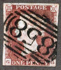 Great Britain 3a 1d Orange Brown QV ,1841,  Cancel 858, G G corners
