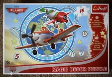 TREFL LARGE SIZE MAXI 15 PIECE DISNEY PIXAR PLANES GLOW IN THE DARK WALL DECOR3+