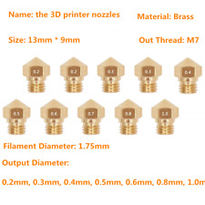 MK10 M7 Extruder Nozzle for 3D Printer Wanhao Dupicator Makerbot 0.2-1.0mm lot