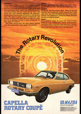 "1971 MAZDA CAPELLA RE ROTARY COUPE AD A4 POSTER GLOSS PRINT LAMINATED 11.7""x8.3"""