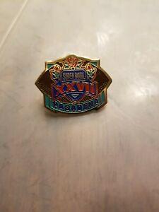 NFL Super Bowl XXVII Pasadena Lapel Pin