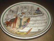 """England for Pv French Opera Themed Round Plate La Barber of Seville 5"""" D"""