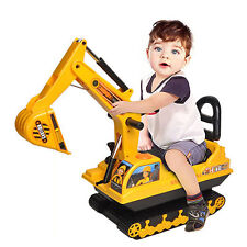 NEW! KIDS CHILDS DIGGER EXCAVATOR TRACTOR RIDE ON INDOORS OR OUTDOORS.UK BASED!