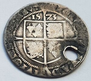 1573 Elizabeth I Sixpence Silver Coin