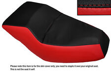 BLACK & RED CUSTOM FITS HONDA HELIX CN 250 DUAL LEATHER SEAT COVER