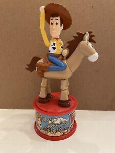 Vtg Toy Story Woody & Bullseye Push-Up McDonalds Figurine 1999