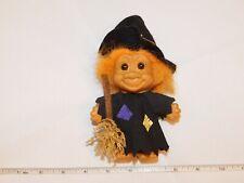 Troll Doll orange hair broom hat Witch Halloween shirt hat Russ artist hat Rare