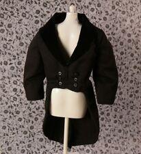 Black Tuxedo Tailcoat Morning COAT Livery Dressage COAT Ken Doll DOWNTON ABBEY