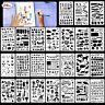 24 Pcs Bullet Journal Stencil Set Plastic Planner DIY Drawing Template Diary US