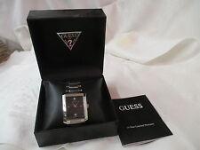 Vintage Guess Steel Men's Wrist Watch G10150G Diamond Chip water resistant MIB