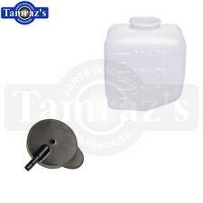 62-72 GM Chevy Windshield Washer Jar Bottle Reservoir & Cap Set