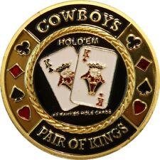 "ORIGINAL POKER CARD GUARD ECHT VERGOLDET ""COWBOYS"""