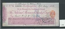 wbc. - CHEQUE - CH256 - USED -1880's -NATIONAL PROV BANK of ENGLAND, SOUTHAMPTON