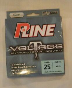 P-Line Voltage VF-25 Tournament Grade Co-Polymer Line, 25 lb, 260 yds, New