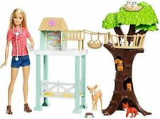 ?Barbie Doll and Animal Rescue Center with 8 Animals