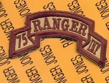US Army 75th Infantry AIRBORNE RANGER Regiment scroll patch c/e Desert