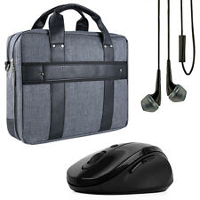 "15.6"" Laptop Messenger Shoulder Bag Business Briefcase Handbag + Headset +"