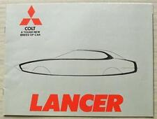 MITSUBISHI COLT LANCER Car Sales Brochure 1977 1200 SUPER 1600 GSR Saloon ESTATE