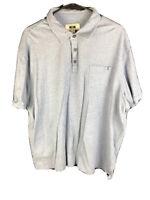 Joseph Abboud Polo Shirt Mens XXL Light Blue Short Sleeve Casual 2XL Collar